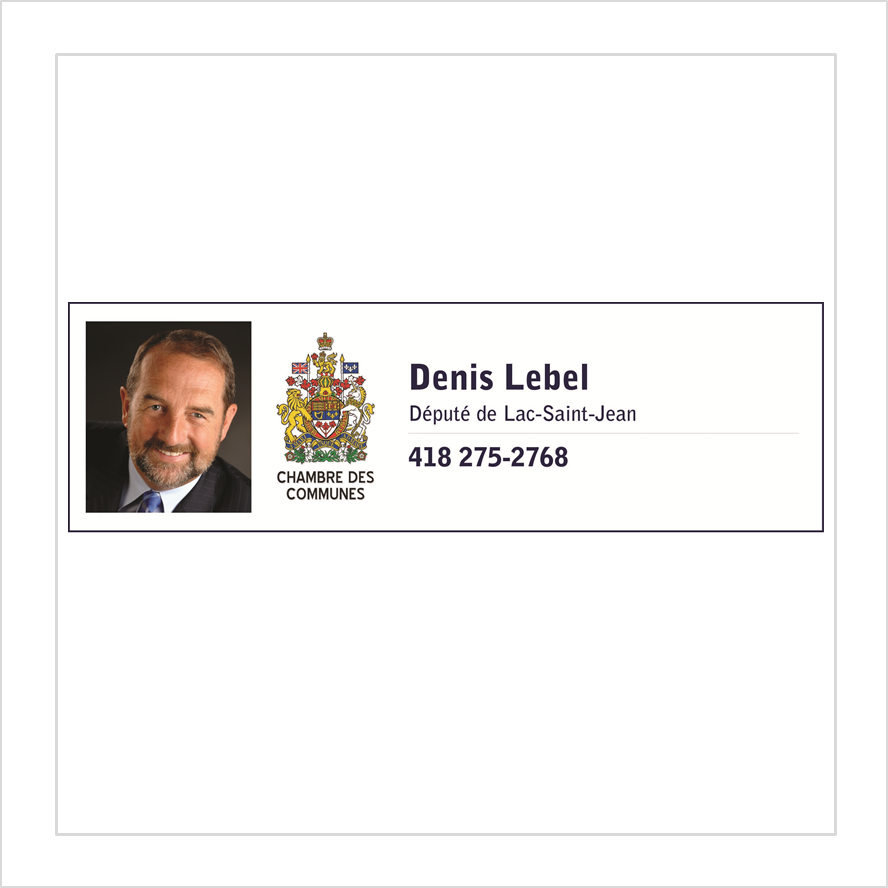 Denis Lebel - Deputy of Lac-Saint-Jean