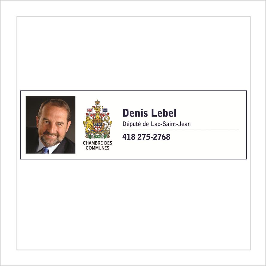 Denis Lebel - Deputy of Lac-Saint-Jean